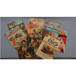 10 Western comic books, ca 1950's
