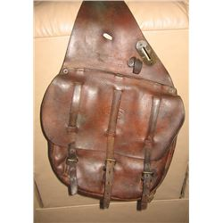 WWI Era US Cavalry Leather Saddle Bags w/canvas lining, marked Boyt and E.T.C., has previous owners