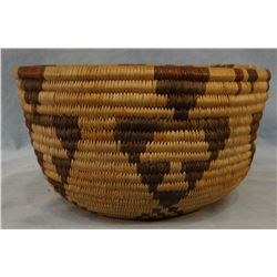 """Hopi Indian woven grass basket, 6 3/4"""", excellent condition. Bought on Hopi Reservation in 1910."""