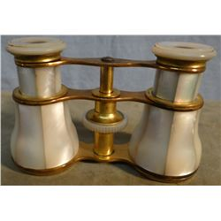 """Opera glasses,  Mother of Pearl, 4"""" wide, no maker"""