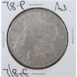 1878-P Morgan dollar, AU,