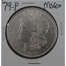 1879-P Morgan dollar, MS 60