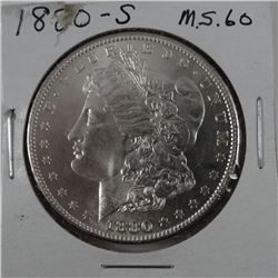 1880-S Morgan dollar, MS 60