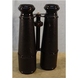"Military field binoculars, WW1, 7""h x 4 1/2""w"