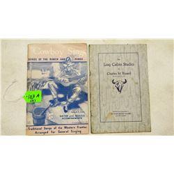 Will James memorabilia: 2 - 1930'S era soft cover books, assorted James sketches, unsigned, personal