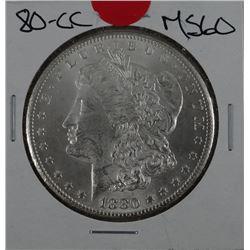 1880-CC Morgan dollar, MS 60