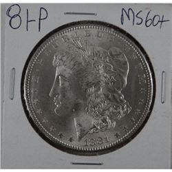 1881-P Morgan dollar, MS 60