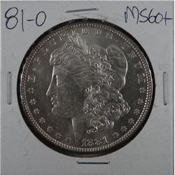 1881-O Morgan dollar, MS 60