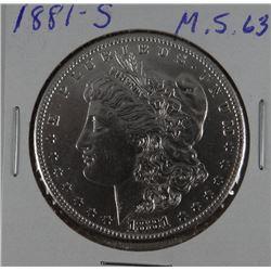1881-S Morgan dollar, AU