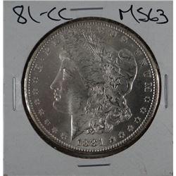 1881-CC Morgan dollar, MS 63