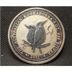 Australian silver 1 oz. Kookoobura, .99 pure