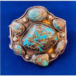 Ladies large turquoise bracelet