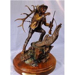 "Jones, Dennis (Joseph, OR) bronze sculpture, Where Horses Can't Go, 44/50, 17"" h x 11"" w"