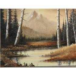 "Farrar, Burton (Great Falls, MT), oil on canvas, 11"" x 14"""
