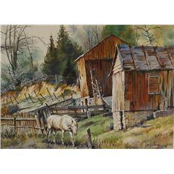 "Hines, Jack (Big Timber, MT) watercolor, 12"" x 16"""