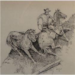 """East, Barbara, (Colorado), original pen/ink, 11"""" x 9.5"""""""