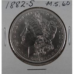 1882-S Morgan dollar, MS 60