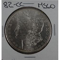 1882-CC Morgan dollar, MS 60