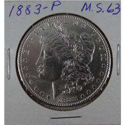 1883-P Morgan dollar, MS 60