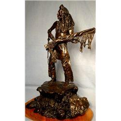 """Lemon, David, (McAllister, MT) bronze, Curley, Crow Scout, 19"""" t x 14"""" w x 11"""" d"""