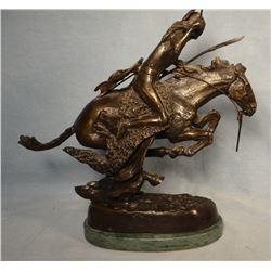 "Remington, Frederic bronze, Cheyenne, 12"" h x 12"" w, recast"