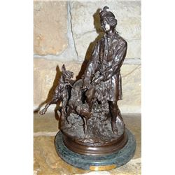 "Mene, D. J., bronze, Scotchman With His Dogs, 19"" h x 13"" w"