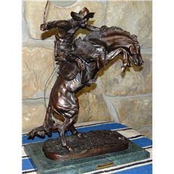 "Remington, Frederic, Bronc Buster recast bronze, 15"" w x 21"" h"