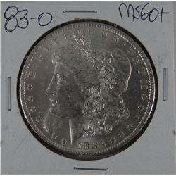 1883-O Morgan dollar, MS 60