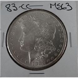 1883-CC Morgan dollar, AU