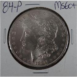 1884-P Morgan dollar, MS 60