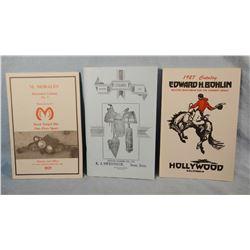 3 repro western catalogs, M. Morales, Edward Bohlin & A. J. Owenhouse