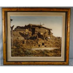 Huffman, L. A. photo print, Sieber's cabin, 1901