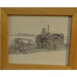 Greytak, Don (Havre, MT) signed print, Old Farming, 140/300