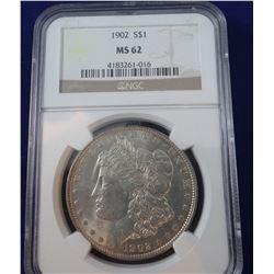 1902 S Morgan dollar, NGC MS62
