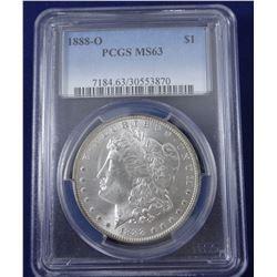 1888 O Morgan dollar, PCGS MS 63
