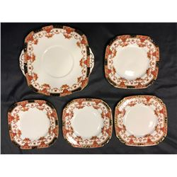 Sutherland China-made in England dessert serving plates and Royal Staffordshire cream & sugar