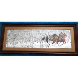 """Doolittle, Bev signed print, Sacred Ground, 12"""" h x 39"""" w, 45475/69996, framed"""