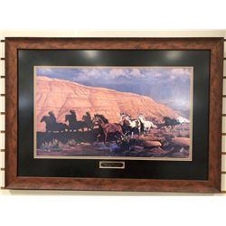 "Pickthorn, Nadine signed print, Return To Sand Arroyo, AP 41/50, 14"" w x 24"" h, framed"
