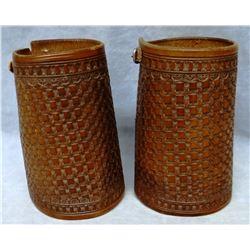 Cowboy cuffs, basket stamped, unmarked