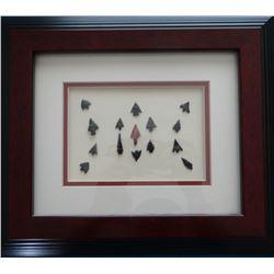 Indian arrow head points, 15 pcs, Willamette River in Western Oregon