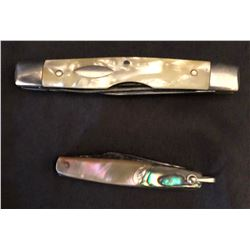 Schrade knife, fixed blade; Western pearl handled pocket knife