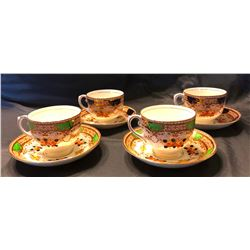 Salisbury Crown China, made in England, 4 cups/saucers