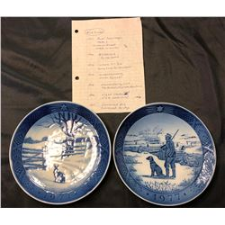 Blue Star plates, 1971-1977 w/list