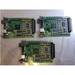 (3) Fanuc A20B-8100-0670/02B Ethernet Board