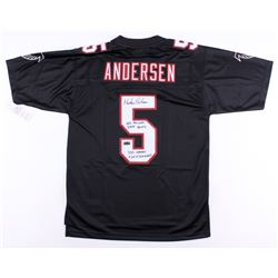 """Morten Anderson Signed Falcons Jersey Inscribed """"NFL Record 2544 Points"""", """"382 Games""""  """"565 Field Go"""