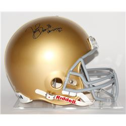 "Tim Brown Signed Notre Dame Fighting Irish Full-Size Authentic Pro-Line Helmet Inscribed ""Heisman '8"
