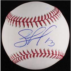 Salvador Perez Signed OML Baseball (MLB Hologram)