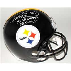 "Hines Ward Signed Steelers Full-Size Helmet Inscribed ""2x SB Champs""  ""SB XL MVP"" (JSA COA)"