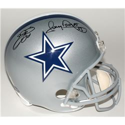Emmitt Smith  Tony Dorsett Signed Cowboys Full-Size Helmet (PROVA Hologram  Smith Hologram)