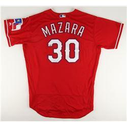 Nomar Mazara Signed Rangers Majestic Jersey (MLB Hologram)